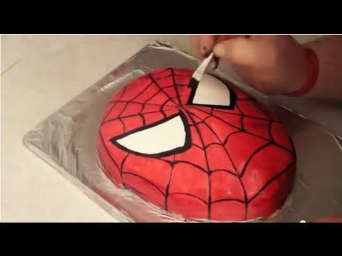 Great and simple way to make spiderman cake. And you get to paint the face on instead of forming every line and arc separately.