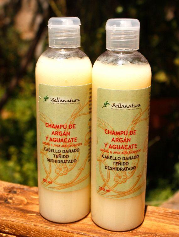 Champú de argán (Cabello dañado o teñido) (Reparador-brillo) / Argan Shampoo (Hair repair)