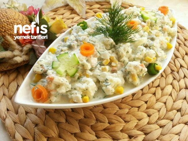 Kaşık Kaşık Yedirten Karnabahar Salatası