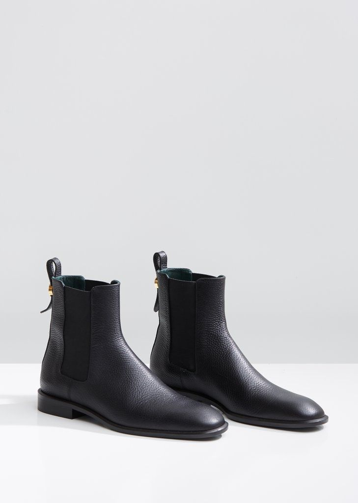 Grained Leather Chelsea Boots EU 36 Black | Chelsea
