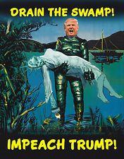 Drain the Swamp Impeach Trump Magnetic Bumper Sticker 4.25x5.5 Poster Style