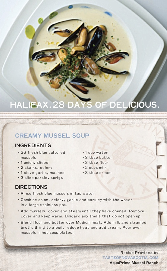 "Prepare this ""Creamy #Mussel #Soup"" and enjoy a taste of East Coast cuisine made by you. A healthy dose of mussels in a creamy broth make for a simple yet tasty #chowder. #28daysofdelicious"