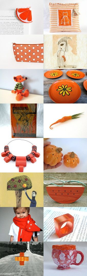 Orange Collection by 3buu on Etsy--Pinned+with+TreasuryPin.com