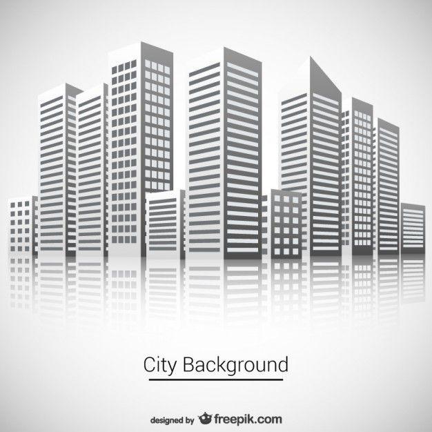 Город фоне Бесплатный векторный