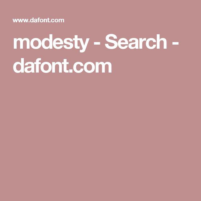modesty - Search - dafont.com