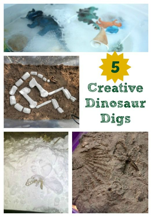 Kids will LOVE learning about fossils with some of these super fun dino digs -- plus, they're easy to put together too!