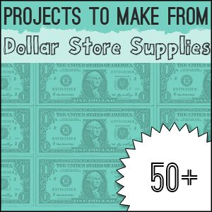 Over 60 Dollar Store #Crafts To Make -#DIY