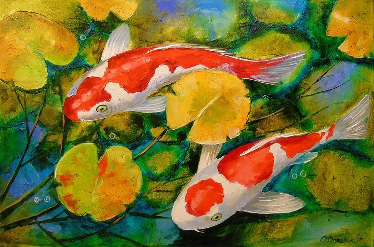 ассортименте картина рыбы маслом одном