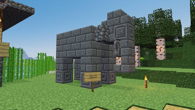 Nice Elephant Statue Build On Minecraft With Images Minecraft