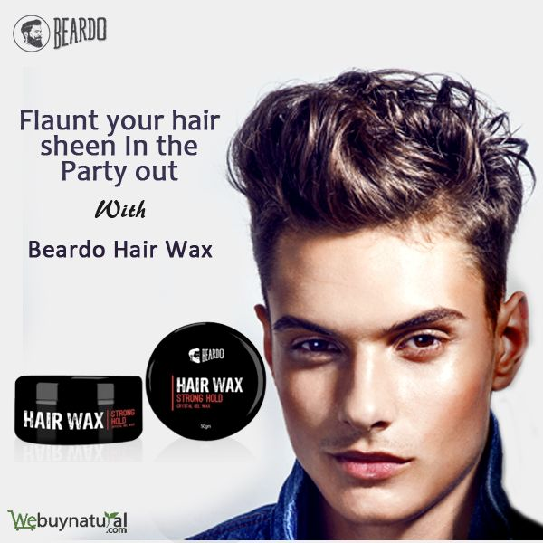 Flaunt your hair sheen in the party out with Beardo Hair Wax.  Buy now only at www.webuynatural.com
