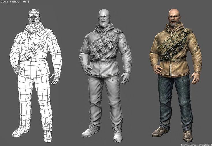 FPS character, se won kang on ArtStation at https://www.artstation.com/artwork/fps-character