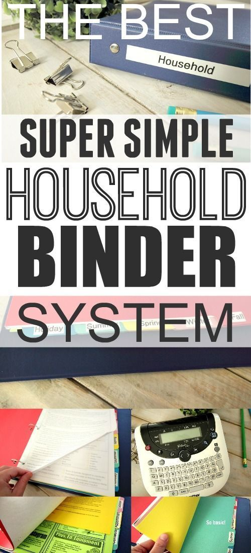 The simple household binder system that works for everyone!... Even those who…