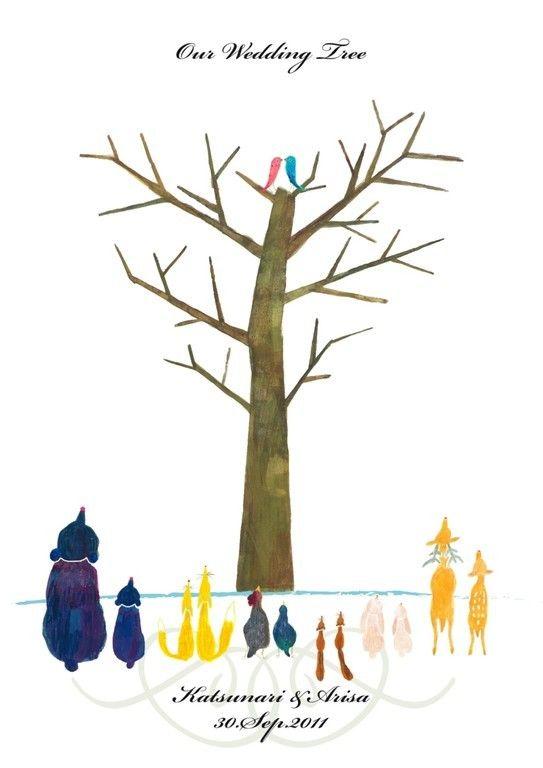 動物大集合のウェディングツリー