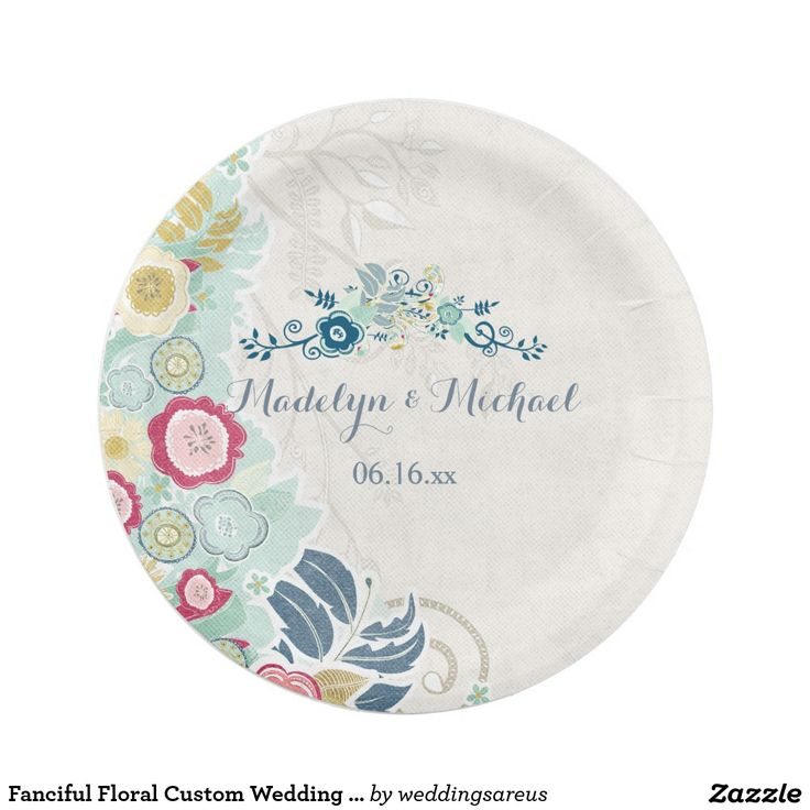 White Compostable Paper Plates Zazzle UK