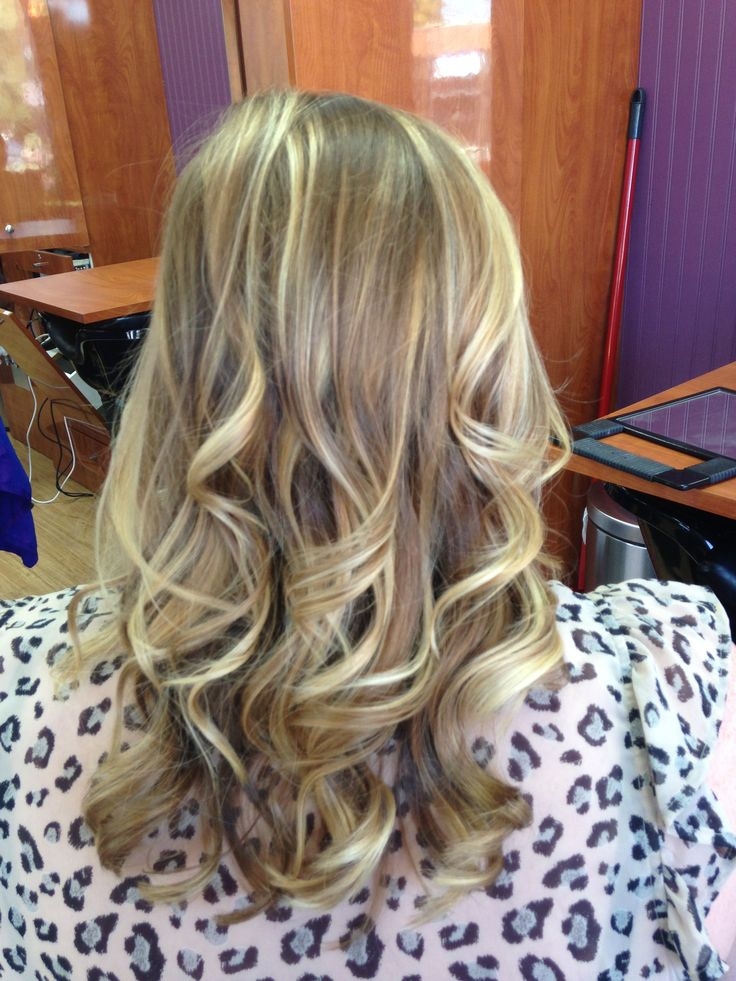 Highlights Blonde Hair Medium Length Curls Hair