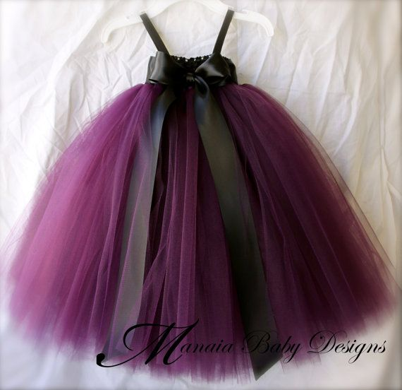 Plum Tutu Dress / Plum Flower Girl Tutu Dress by ManaiaBabyDesigns, $29.00