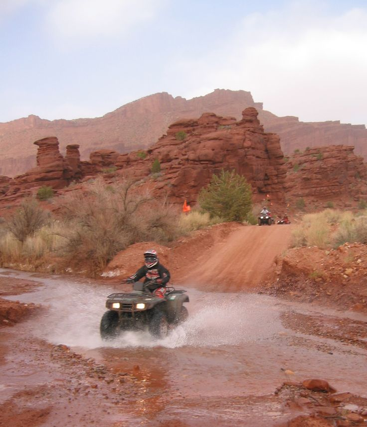 Let SRR take you through the best off-roading trails you have ever been on. We can set you up with ATV's for your whole group and show you what fun is really about! #ATV #offroading #moab