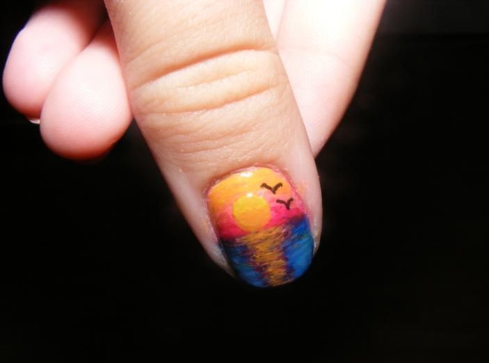 16 Sunset Nail Arts You Won't Miss - Best 25+ Sunset Nails Ideas On Pinterest Pretty Nails, Pretty