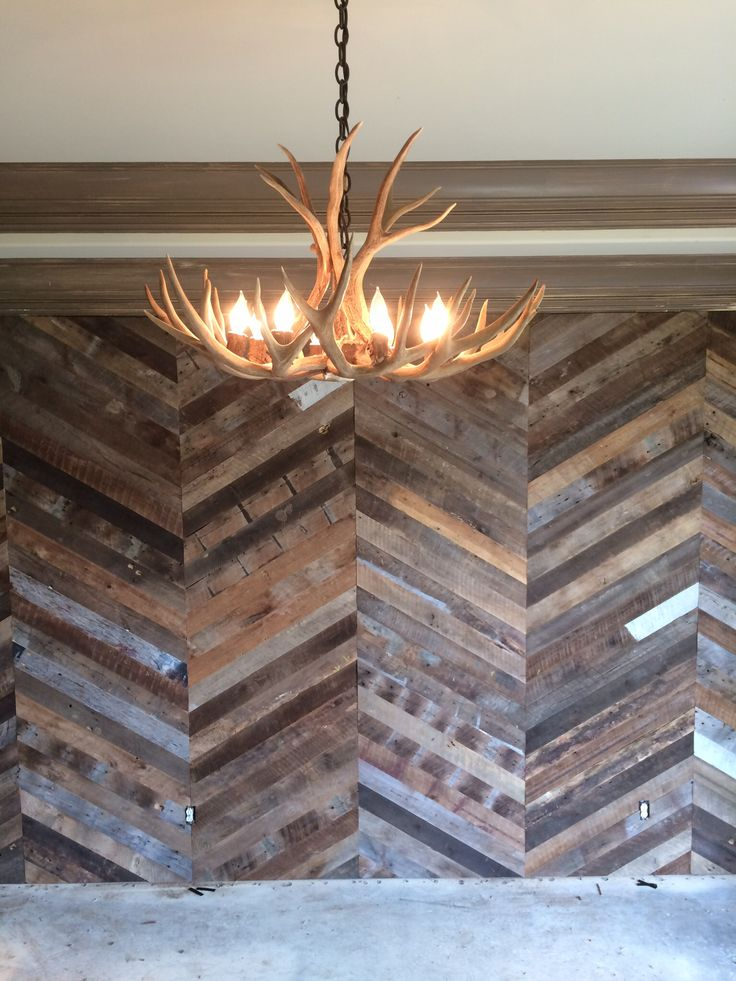 Chevron Wall Using Reclaimed Flooring By Good Wood