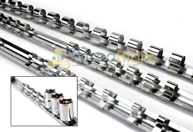Set 1/4 3/8 1/2 Drive Socket Tray Holder Organizer Standard Wall Bench Mount
