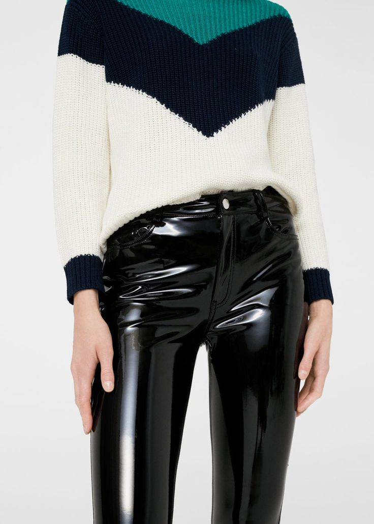 Pantaloni vinile   MANGO