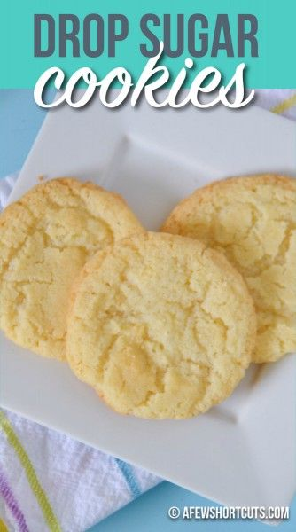 This Drop Sugar Cookies recipe is my go to sugar cookies at my house! I love this recipe because not ...