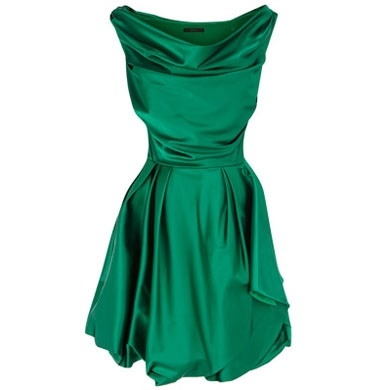 Emerald green wedding guest dress - love the color would have to be a winter evening wedding