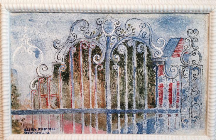 #affresco su cartongesso Aldilà del cancello