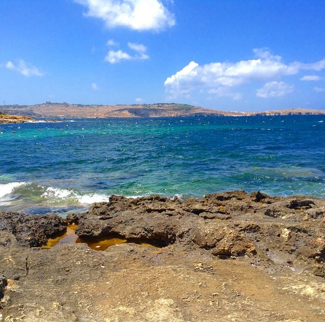Bugibba beach, Malta