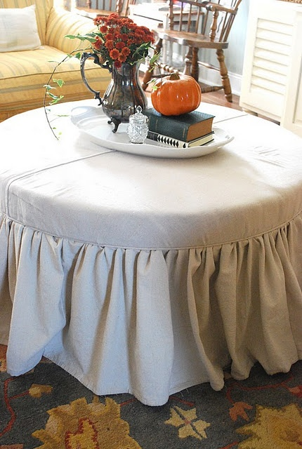 Wood Ottoman Coffee Table