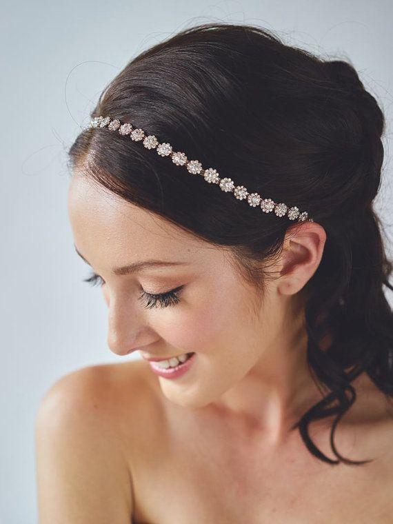 Fascia oro rosa Accessori capelli sposa Fascia di DavieandChiyo