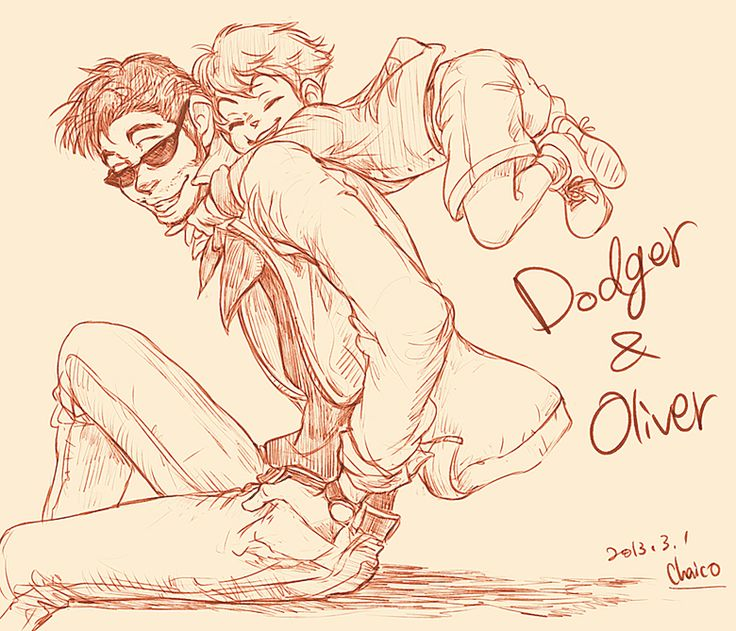 Disney animals as people - Dodger and Oliver by *chacckco on deviantART