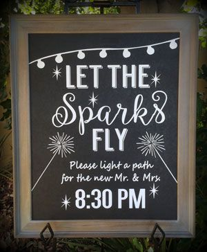 Let the sparks fly - custom lettering for 16x20 frame.