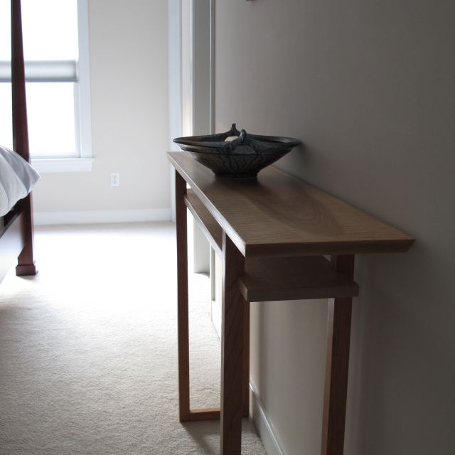 Handmade Modern Wood Furniture 14 best the classic collection- a narrow console with shelf