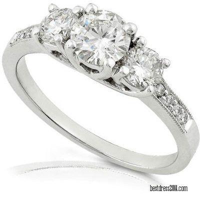 Dream Ring Looks Something Like This... Three Stone Diamond, Round Cut, Size: