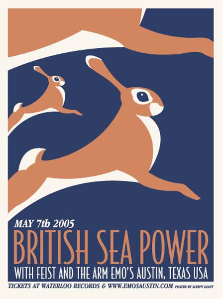 GigPosters.com - British Sea Power - Feist - Arm, The