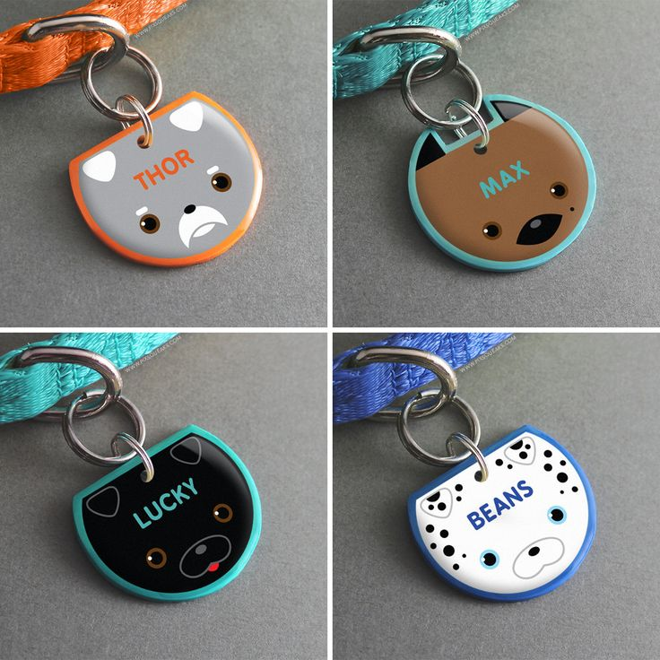 Handmade Novelty Pet Tags from Pixsqueaks