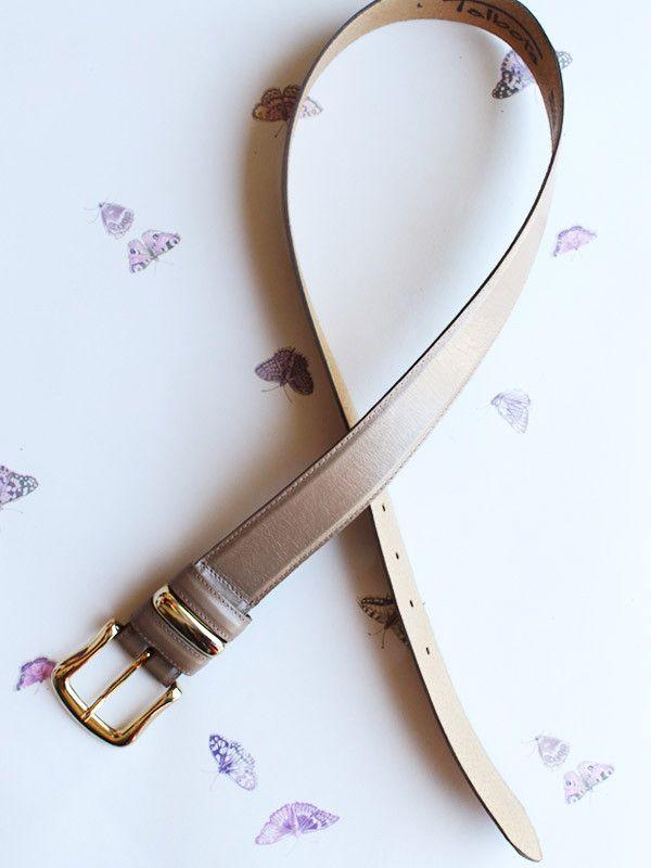 Vintage Tan Belt with Gold Buckle