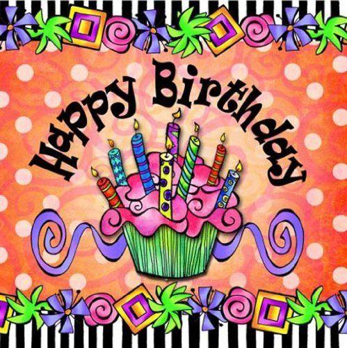 Suzy Toronto Cocktail Napkins, Happy Birthday, 20-Pack By