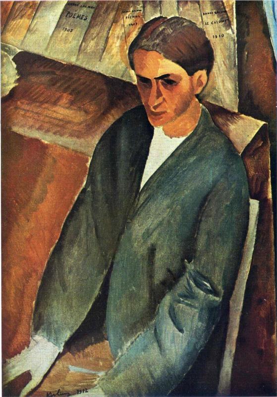 Portrait of Andre Salmon, 1912 by Moise Kisling (1891-1953)