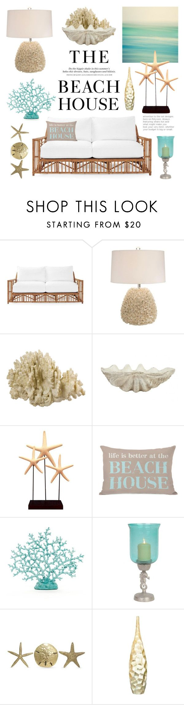 """The Beach House"" by lgb321 ❤ liked on Polyvore featuring interior, interiors, interior design, home, home decor, interior decorating, H&M, Serena & Lily, Jayson Home and Fetco                                                                                                                                                                                 More"