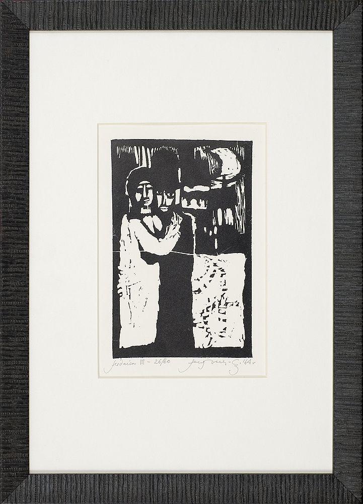 Jerzy Duda Gracz | JUDAICA III, 1964 | drzeworyt, papier | 14.8 x 9.5 cm