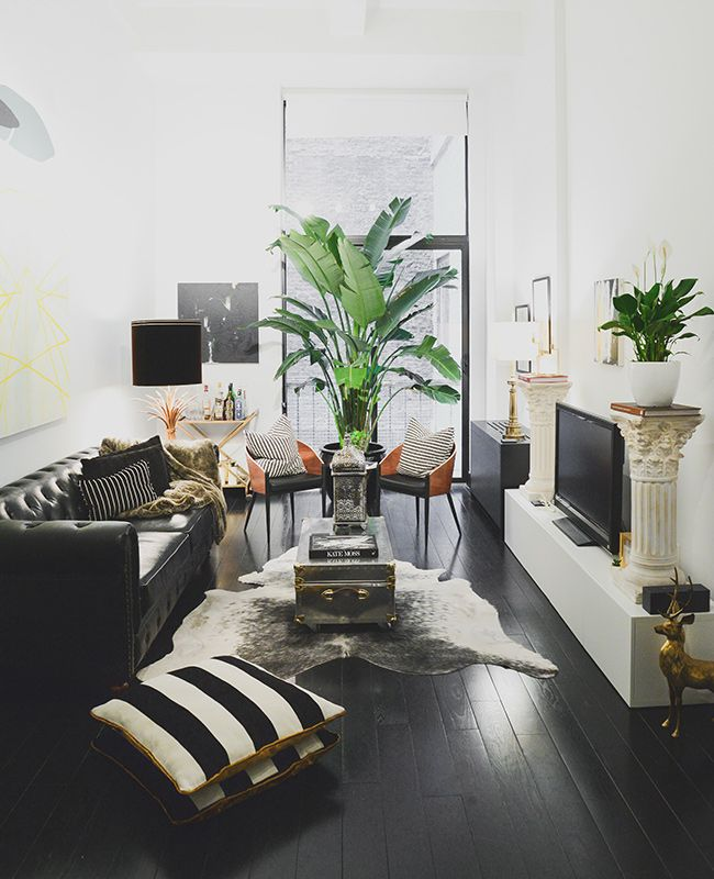 5 Things About Design We Learned From Noa Santos Of Homepolish Dark Wood FloorsSmall Living