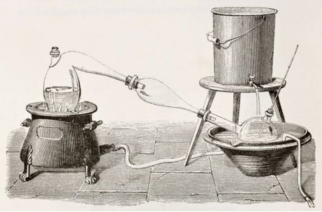 Distillation appears to have been practiced throughout ancient times. Based upon the current interpretation Paolo Rovesti's discovery of an earthenware distillation apparatus, the production or extraction of aromatic oils by means of steam distillation, has been known for 5000 years.