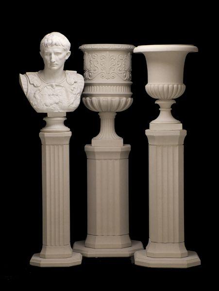 Athenian Classic Pedestals   Haddonstone Cast Stone Garden Ornaments & Architectural Building Materials