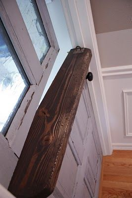 How to turn a normal door into a dutch door.  Laundry room door needs this so we can ditch the baby gate for the dogs