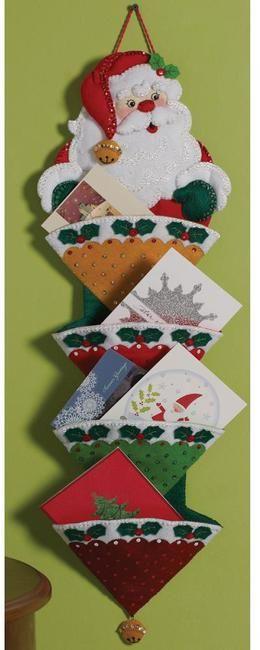 Felt Tree Skirt Kits Applique | ... and His Sleigh - Christmas Stocking Felt Applique Kit - 123Stitch.com