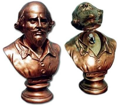 Batman Shakespeare Bust: In the TV show Bruce Wayne pulled back the head on the bust in his study to reveal the switch for the bat-poles. If you have a man cave behind a secret door this has to be the coolest way to open it.