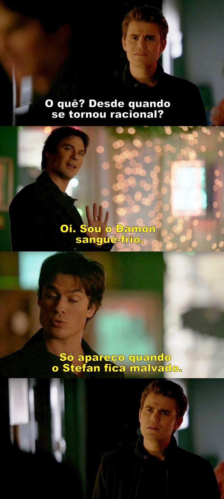 Hahahaha!!! Diários de um vampiro 7x9 - Damon e Stefan
