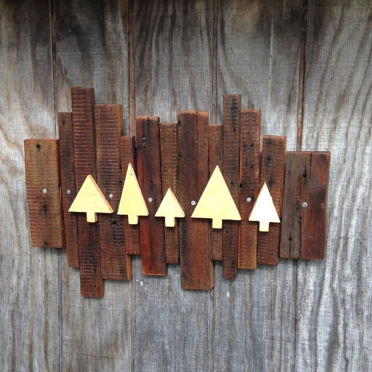 The Woods - salvage barn board wall hanging.